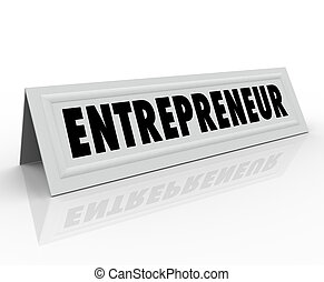 Entrepreneur Name Tent Card Expert Business Owner Advice -...