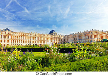 Main entrance of Versailles Palace, Versailles, France. -...