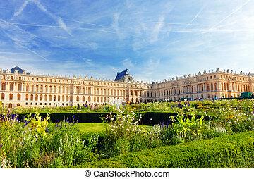 entrada, principal, palacio, francia, Versailles, Versailles...