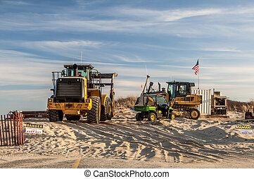 Construction Site 1 - A sand replenishment construction site...