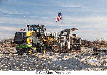 Construction Site 2 - A sand replenishment project site on...
