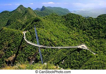 Langkawi Sky Bridge, Langkawi island, Malaysia, Southeast...