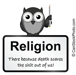 Religion - Monochrome religion and death sign isolated on...