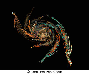 the awakening - an abstract colored background generated by...