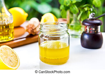 Lemon dressing - Homemade Lemon vinaigrette dressing by...