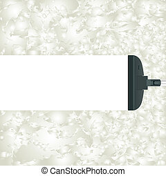 Cleanliness - Abstract gray background and white stripe made...
