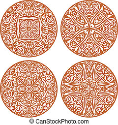 mandala set - vector set of 4 mandalas