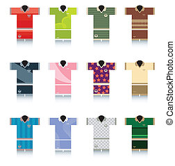 Sportswear - The front of the sports colors with a white...