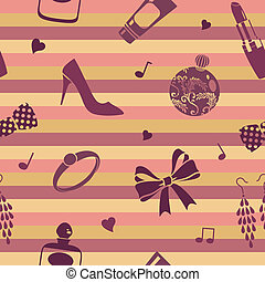 striped femine pattern - vector seamless pattern
