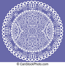 lace doily - vector lace doily