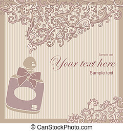 fragrance - vector illustration of bottle of perfume exude...