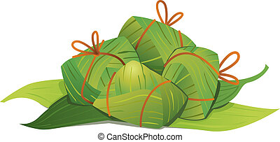 Chinese Rice Dumplings illustration - Chinese Rice Dumplings...