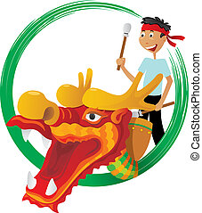 Dragon boat festival illustration - Dragon boat competition...
