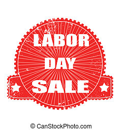 labor day sale stamp - labor day sale grunge stamp with on...
