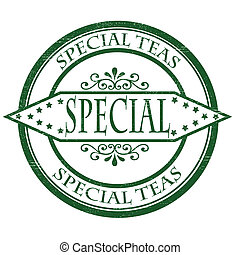 Special teas - Stamp with text special teas inside, vector...