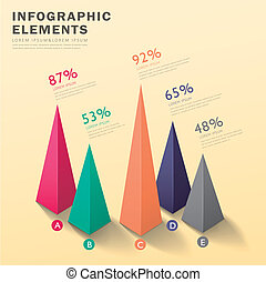 abstract pyramid chart infographics - modern vector abstract...