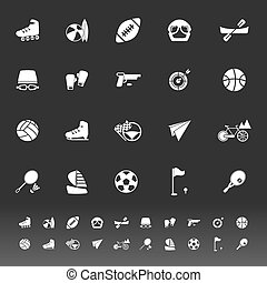 Extreme sport icons on gray background