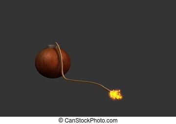 Exploding bomb