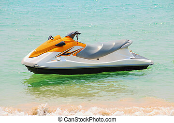 jet-ski - Jet ski on the beach