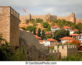 Ohrid Fortress and Town - The beautiful Ohrid Fortress and...
