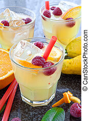 Fresh lemonade - Fresh homemade lemonade made from organic...