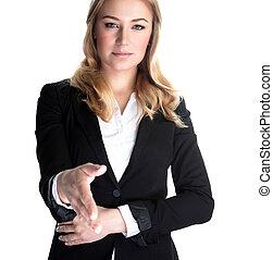 Business partner - Closeup portrait of confident young woman...