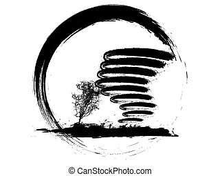 tornado icon - vector illustration of grunge weather icon