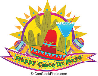 Cinco De Mayo Banner - Happy Cinco De Mayo banner with...