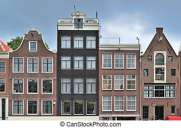 Amsterdam Old Town - Amsterdam. Very beautiful buildings in...