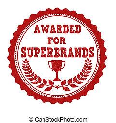 Awarded for superbrands stamp - Awarded for superbrands...