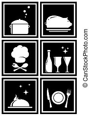 icons with restaurant objects