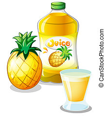 Pineapple juice drink - Illustration of the pineapple juice...