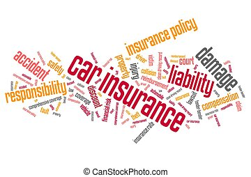 Car insurance policy concepts word cloud illustration Word...