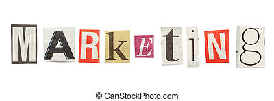 Marketing, Cutout Newspaper Letters - Marketing - words...