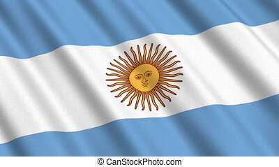 Flag of Argentina, seamless loop - Flag of Argentina waving...