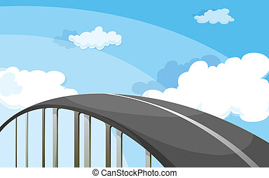 A highway - Illustration of a highway