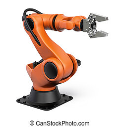 Industrial robot - Very high resolution 3d rendering of an...