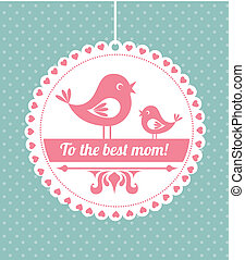 Mothers day design over dotted blue background, vector...