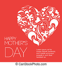 Mothers day design over red background, vector illustration