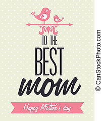 Mothers day design over beige background, vector...