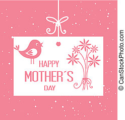 Mothers day design over pink background, vector illustration