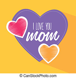 Mothers day design over yellow background, vector...
