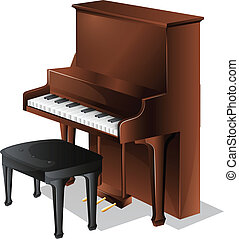 A piano - Illustration of a piano on a white background