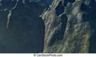 3d Mountain Flyover - 3d Animated aerial of a landscape of...