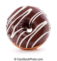 doughnut or donut isolated on white background cutout -...