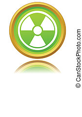 Atomic icon - Nuclear icon on a white background Vector...