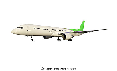 Illustration of big air plane isolated on white background