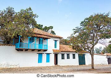 White Colonial Architecture - White colonial architecture...