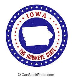 Iowa stamp