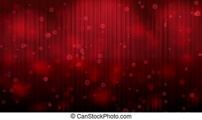 Red Lights over Theatrical Curtain - red Light Burst over...